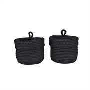 ZONE Laundry Basket - Black 32x32x50cm