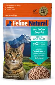K9 Feline Natural 無穀物冷凍脫水貓糧 - 牛肉藍尖尾鱈魚盛宴